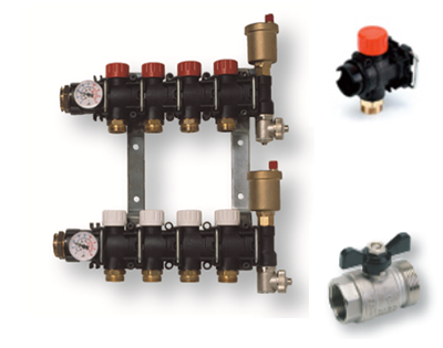 Sintetički modularni razdelnici za podno grejanje i hlađenje