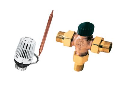 Trokraki razdelni ventili sa termoglavom K